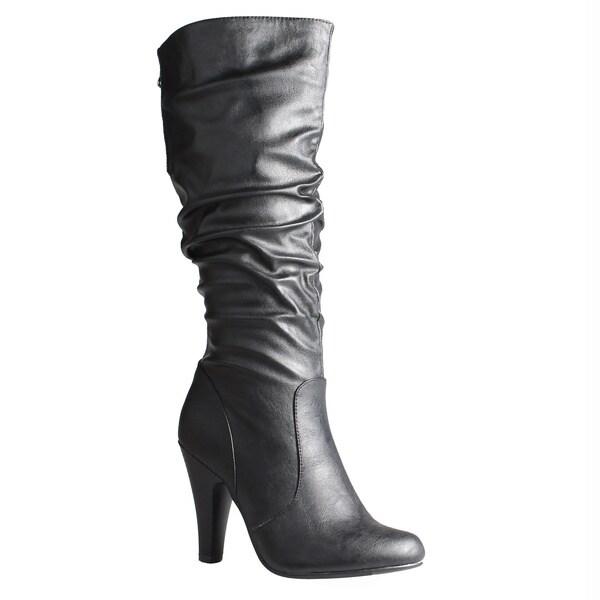 Refresh by Beston Women's 'Jazz' Knee High Boots