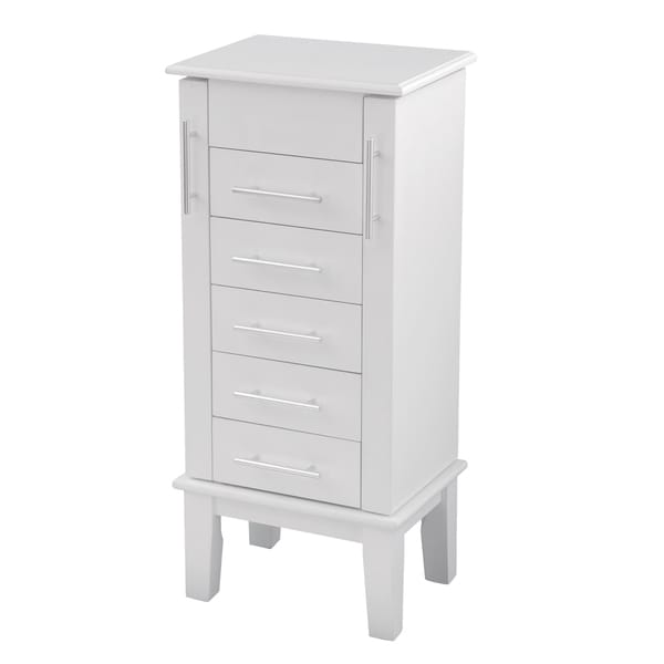 Bianco Collection Cape Cod White Jewelry Armoire
