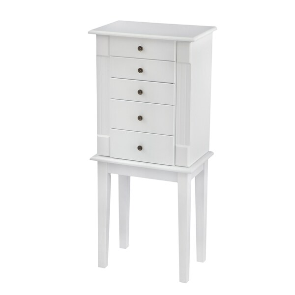 Bianco Collection Hampton Bay White Jewelry Armoire