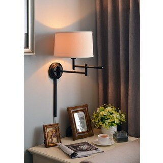 Aldrin 1-light Copper Bronze Swing Arm Wall Lamp