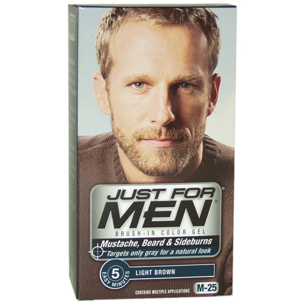 Just For Men Light Brown Mustache-Beard & Sideburns Brush-In Gel ...
