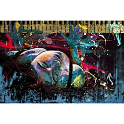 "Maxwell Dickson 'Keys of Life"" Modern Canvas Art Print"