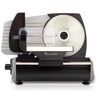 """Continental Electric Pro Deli Meat Slicer 7.5"""" Inch Serrated Blade"""