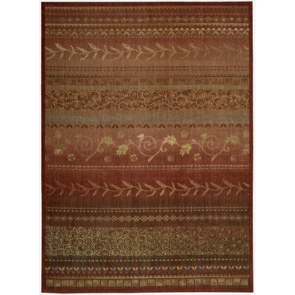 Nourison Liz Claiborne Radiant Impression Assorted Pattern Crimson Red Rug (7'9 x 10'10)