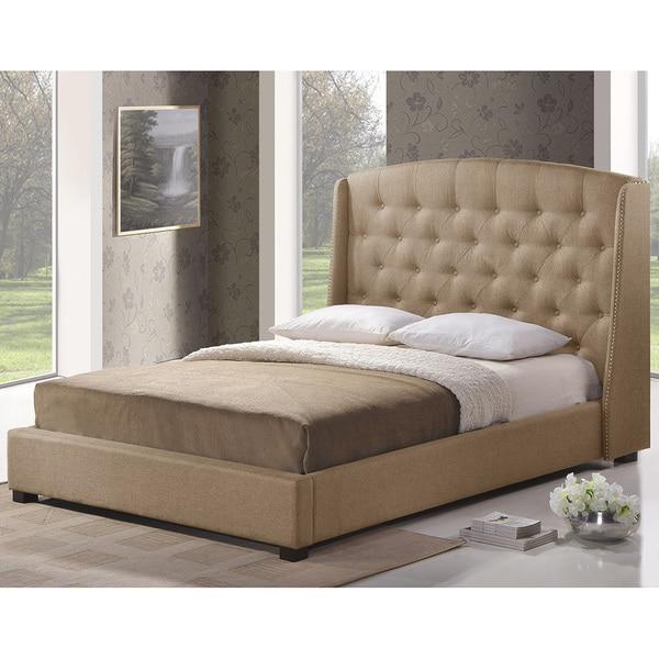 Ipswich Beige Linen Modern Platform Bed