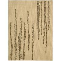 Nourison Liz Claiborne Radiant Impression Delicate Floral Beige Rug