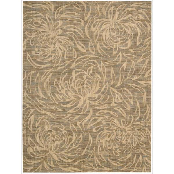 Nourison Liz Claiborne Radiant Impression Floral Silhouette Beige Rug  (5'6 x 7'5)