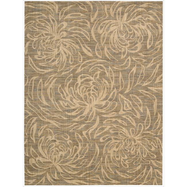 Nourison Liz Claiborne Radiant Impression Floral Silhouette Beige Rug (7'9 x 10'10)