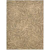 Nourison Liz Claiborne Radiant Impression Floral Silhouette Beige Rug (7'9 x 10'10) - 7'9 x 10'10