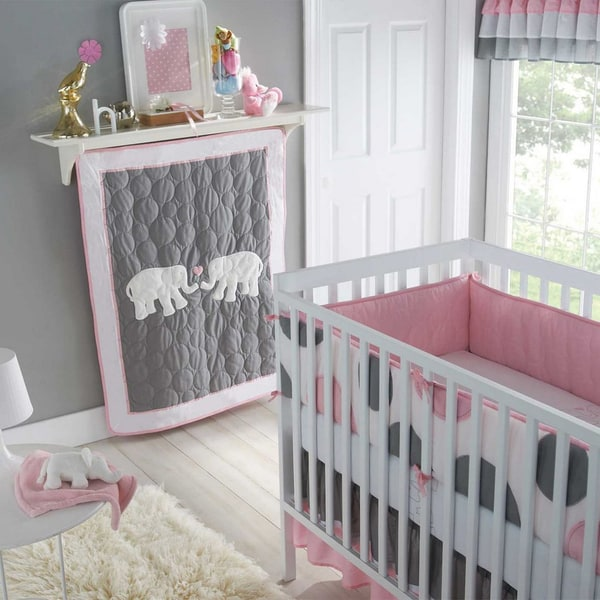 Victoria Classics Pink Parade 5-Piece Crib Bedding Set