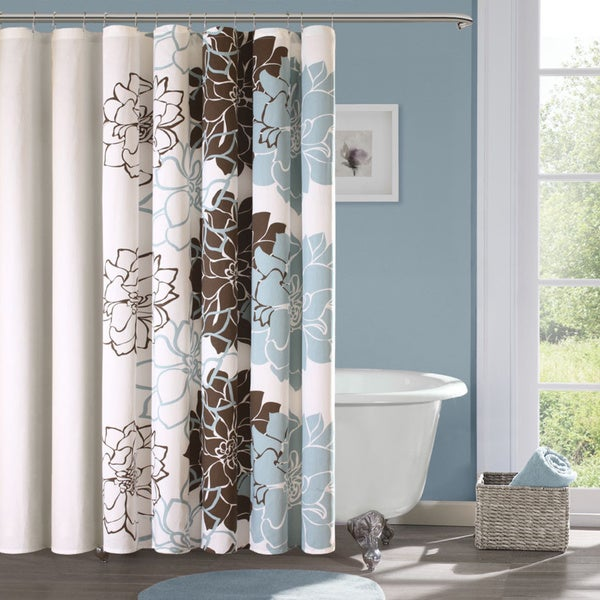 Madison Park Farrah Cotton Sateen Shower Curtain