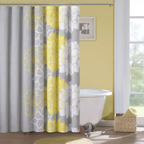Madison Park Brianna Sateen Printed Shower Curtain Free