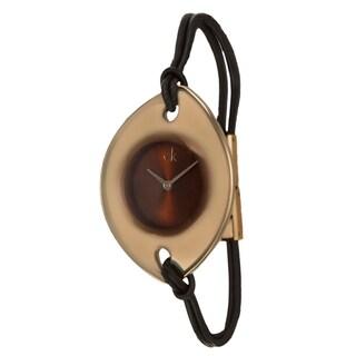 Calvin Klein Women's 'Suspension' Stainless Steel Rose Goldtone Watch