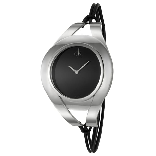 Calvin Klein Women's 'Sophistication' Stainless Steel and Leather Strap Watch