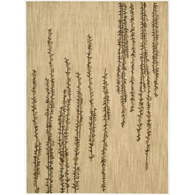 Nourison Liz Claiborne Radiant Impression Delicate Floral Beige Rug  (5'6 x 7'5)