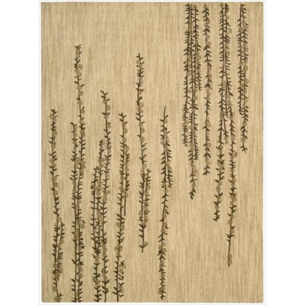 Nourison Liz Claiborne Radiant Impression Delicate Floral Beige Rug - 5'6 x 7'5