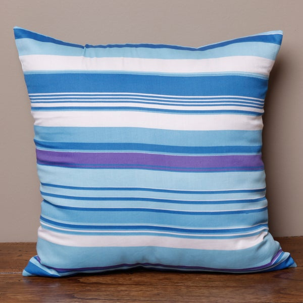 Blue Stripe Pillow Cover (India)