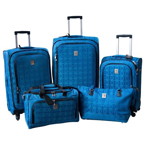 Jenni Chan Links 5-piece Fashion Spinner Luggage Set