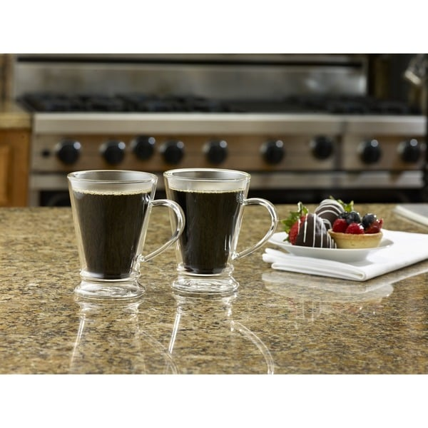 BonJour Coffee Insulated Glass Coffee Mug Set