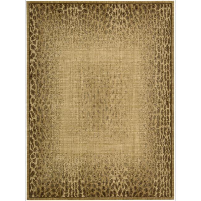 Nourison Liz Claiborne Radiant Impression Transitional Giraffe Print Beige Rug (5'6 x 7'5)