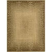 Nourison Liz Claiborne Radiant Impression Transitional Giraffe Print Beige Rug (5'6 x 7'5) - 5'6 x 7'5