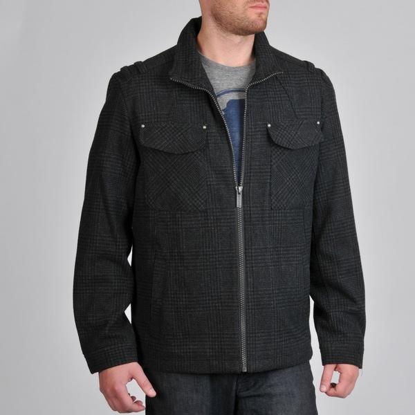 Buffalo by David Bitton Men's Wool Blend Open Bottom Jacket