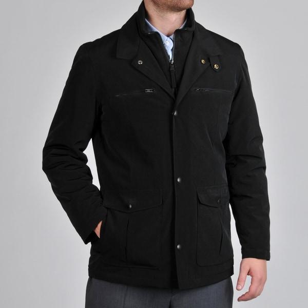 Perry Ellis Men's Bib Insert Snap Front Coat