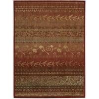 Nourison Liz Claiborne Radiant Impression Assorted Pattern Crimson Red Rug - 5'6 x 7'5