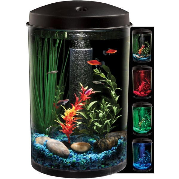 KollerCraft AquaView LED Light 3-Gallon Aquarium Kit