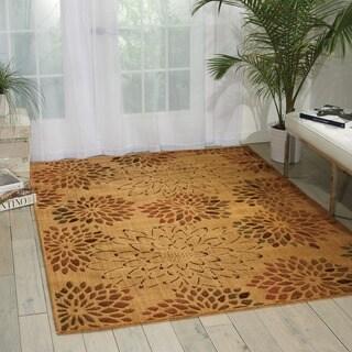 Nourison Liz Claiborne Radiant Impression Scatter Bloom Beige Rug (5'6 x 7'5)