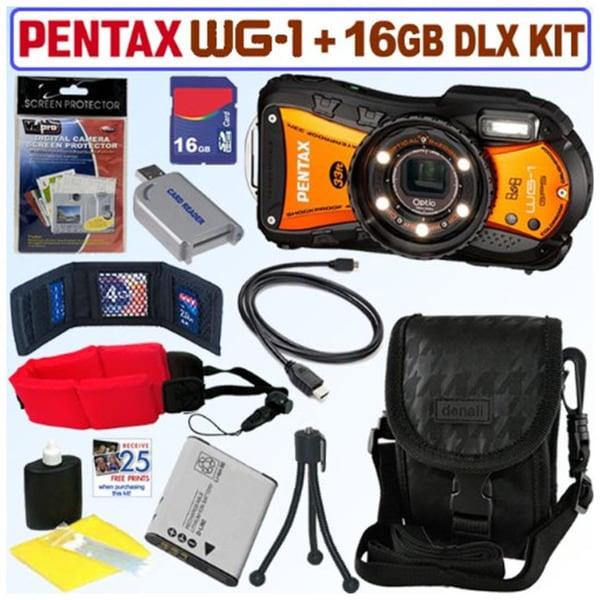 Pentax Optio WG-1 14MP Waterproof Digital Camera with 16GB Kit