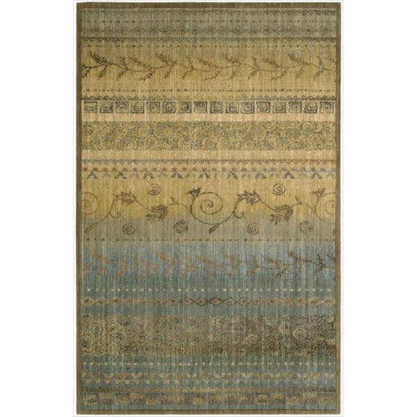 Nourison Liz Claiborne Radiant Impression Teal Green Rug  (3'6 x 5'6)