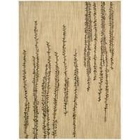 Nourison Liz Claiborne Radiant Impression Delicate Floral Beige Rug - 3'6 x 5'6