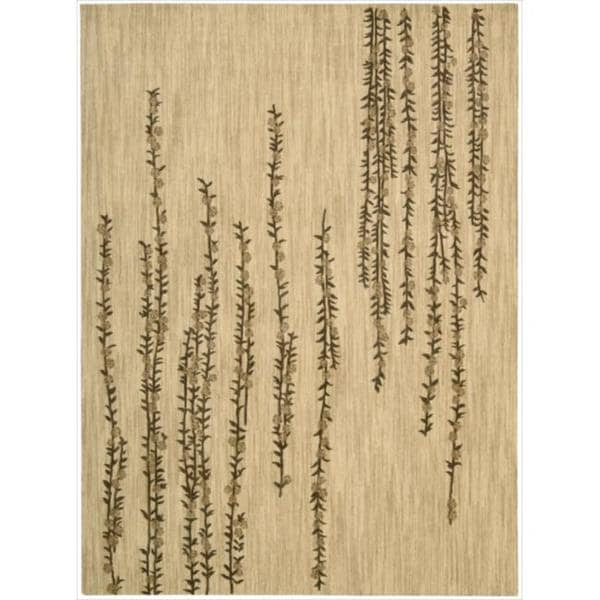 Nourison Liz Claiborne Radiant Impression Delicate Floral Beige Rug (3'6 x 5'6)