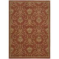 Nourison Liz Claiborne Radiant Impression Damask Red Rug - 3'6 x 5'6