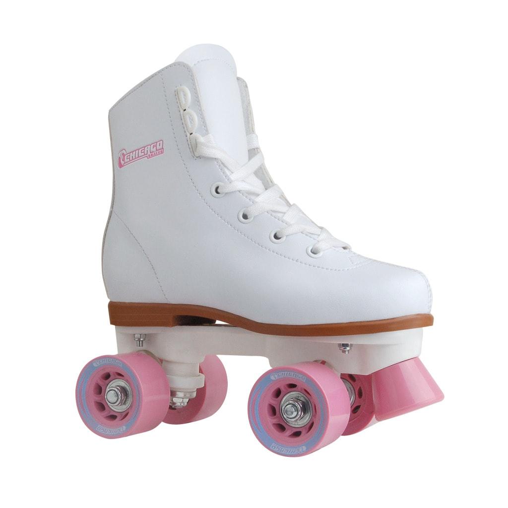 Chicago Skates Girl's White/ Pink Rink Roller Skates (Siz...