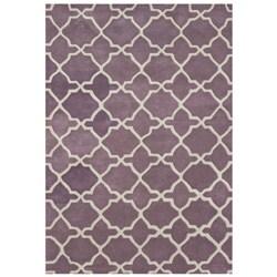 Alliyah Handmade Lilac New Zeeland Blend Wool Rug (8' x 10')