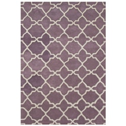 Alliyah Handmade Lilac New Zeeland Blend Wool Rug (5' x 8')
