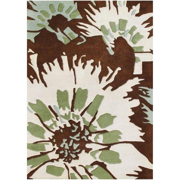 Alliyah Handmade Tufted Antique White New Zealand Blend Wool Rug (8' x 10')