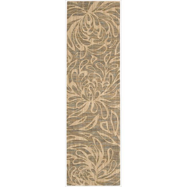 Nourison Liz Claiborne Radiant Impression Floral Silhouette Beige (2'3 x 8')