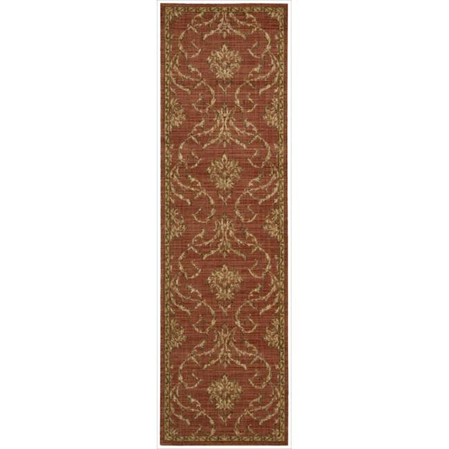Nourison Liz Claiborne Radiant Impression Damask Red Rug  (2'3 x 8')
