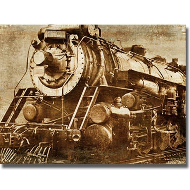 Dylan Mathews 'Locomotive' Canvas Art