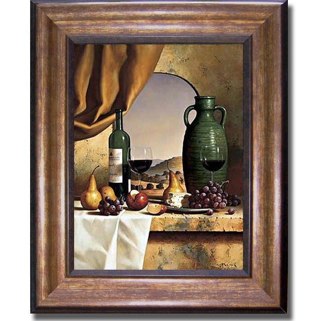 Loran Speck 'Arch with a View' Framed Canvas Art