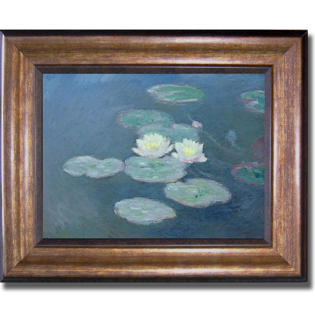 Claude Monet 'Nympheas' Framed Canvas Art