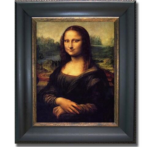 Leonardo da Vinci 'Mona Lisa' Framed Canvas Art - Multi