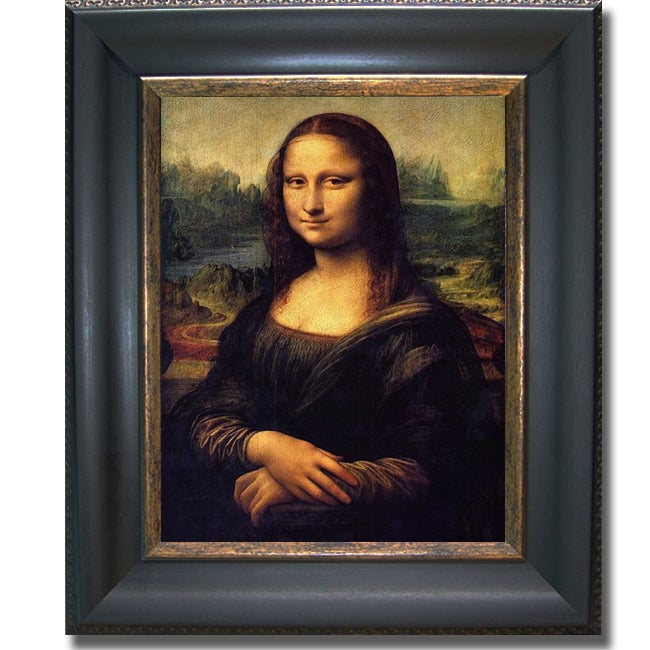 Leonardo da Vinci 'Mona Lisa' Framed Canvas Art - Multi