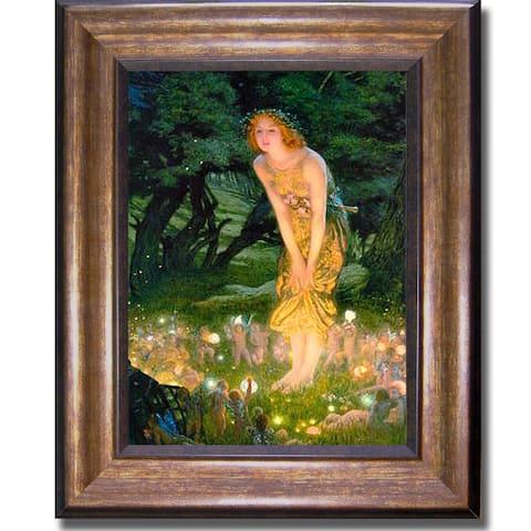 Edward Hughes 'Midsummer Eve' Small Framed Canvas Art - Multi