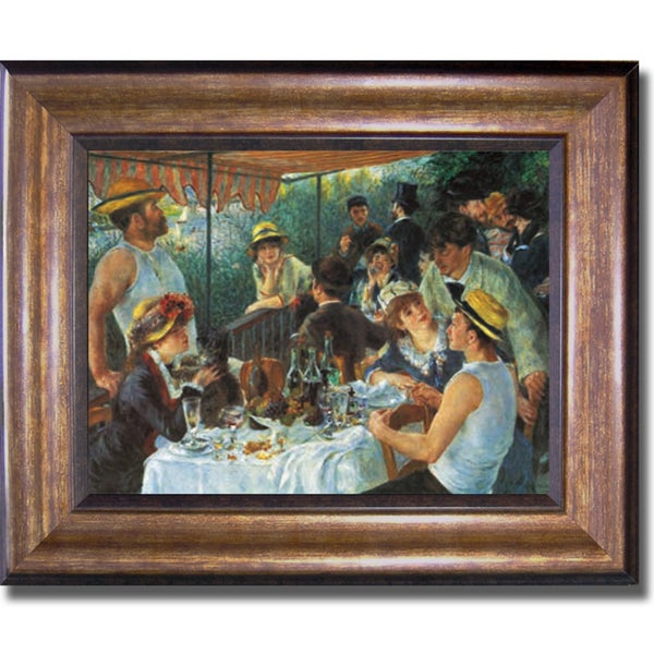 Auguste Renoir 'Luncheon of the Boating Party' Framed Canvas Art