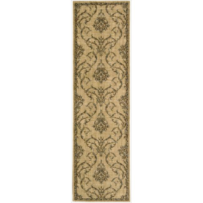 Nourison Liz Claiborne Radiant Impression Damask Beige Rug  (2'3 x 8')