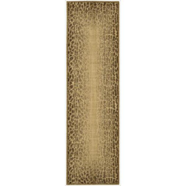 Nourison Liz Claiborne Radiant Impression Transitional Giraffe Print Beige Rug  (2'3 x 8')